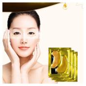 FTXJ 5PCS Moisturising Beauty Gold Collagen Crystal Eye Mask Eye Zone Pad