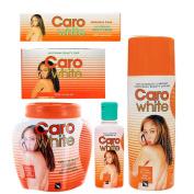 Caro White 5pcs Supreme Set (Jar Cream 500ml, Beauty Lotion 500ml, Beauty Soap, Lightening Oil, and Beauty Cream) Includes free SazzaFrazz Styling Spray