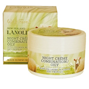 Wild Ferns Lanolin Night Creme with Collagen, Placenta, and Propolis for Combination/Oily Skin