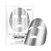 Natural Pacific Premium Metal Snow Mask x 10 Silver-coating Sheet, Niacinamide, Brightening skin, Improving darkness