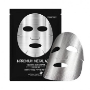 Natural Pacific Premium Metal Aqua Mask x 10 Silver-coating Sheet, Hyaluronic Acid, Anti-ageing, Wrinkle care