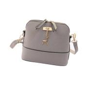 AutumnFall Women Messenger Bags Vintage Small Shell Leather Handbag Casual Bag