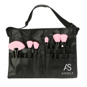 Anself PVC Professional Cosmetic Makeup Brush Apron Bag Artist Belt Strap Holder