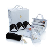 Joy Big Better Beauty Case Deluxe Set with 4 Velvet Pouches ~ White Croco