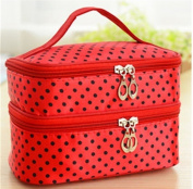 Red/Black Poka Dots Cosmetic Bag