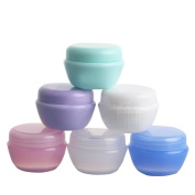 6PCS 10ML(0.3oz) Refillable Portable Empty Make up Pot Lip Jar Bottle Cosmetic Container for DIY Beauty Cosmetics and Travel Face Cream/Lotion
