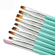 Fheaven 9Pcs Nail Art Manicure Designer Pen Multifunctional Nail Pen Brush Nail Tools--Beauty Painting Polish Brush
