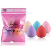 LUNIWEI Beauty 5PCS Multi Shape Sponge Flawless Make-Up Puff