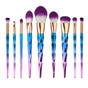 Make Up Brush Set,Fullkang Super Soft 9PCS Make Up Foundation Eyebrow Eyeliner Brush