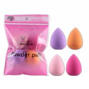 Toraway 4pcs Pro Beauty Flawless Makeup Blender Foundation Puff Multi Shape Sponges