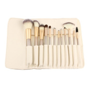 Toraway Pro 12pcs Makeup Brushes set Fondation Eyeshadow Cosmetic Tool with Leather