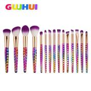 Sagton GUJHUI 15PCS Make Up Brush Set Foundation Eyebrow Eyeliner Eyeshadow Blush Power Specular Brush Concealer Brush Kit Tool