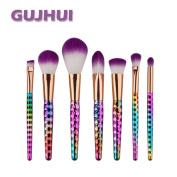 Sagton GUJHUI 7PCS Make Up Brush Set Kit Foundation Eyebrow Eyeliner Eyeshadow Blush Lip Concealer Brush