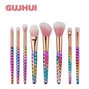 Sagton GUJHUI 8PCS Make Up Brush Set Kit Foundation Eyebrow Eyeliner Eyeshadow Blush Lip Power Concealer Brush