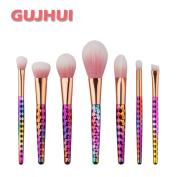 Sagton GUJHUI 7PCS Make Up Brush Set Kit Foundation Eyebrow Eyeliner Eyeshadow Blush Lip Power Brush