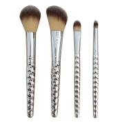 Sagton GUJHUI 4PCS Make Up Brush Set Kit Primer Foundation Eyebrow Lip Blush Cosmetic Concealer Brushes Tool