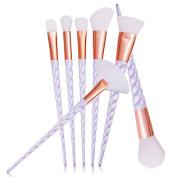 Sagton GUJHUI 7PCS Make Up Foundation Eyebrow Eyeliner Blush Cosmetic Brushes Tool