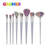 Sagton GUJHUI 8PCS Make Up Foundation Eyebrow Eyeliner Lip Makeup Brushes Powder Liquid Cream Specular brush Set Ket