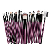 Toraway Pro 22Pcs/Set Makeup Brush Tools Make-up Toiletry Kit Wool Make Up