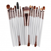 Toraway Pro 15pcs Makeup Brush Set tools Make-up Toiletry Kit Wool Make Up Brush Set