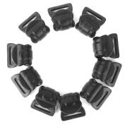 10pcs Camping Awning Tent Plastic C Clips for 10mm-13mm Poles Black