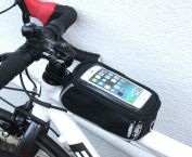 NEW Universal waterproof bike mobile phone frame bag. Ride Pro carbon style smart phone mount.