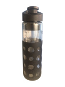 Revive H2O Sports Glass Water Bottle With Silicone Sleeve - 700ml - BPA Free, With - Removable Fruit Infuser