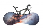 VELOSOCK Bicycle Indoor Storage Cover - Interstellar - Best solution to keep floors and walls DIRT-FREE - Fits 99% of ALL ADULT Bicycles - Free UK Shipping