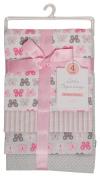 Little Beginnings Four Piece Laddered Receiving Blankets, Pink Butterflies
