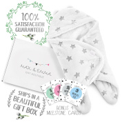 Baby Shower Gifts For Little Boys/Girls- Newborn Baby Receiving Blanket-Wrap-Swaddle- Super Soft -100% Plush Double Layered Fabric-UNISEX colour - With Gift Box