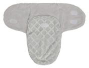 Little Beginnings Diamond Emboss Fleece Swaddle Sack, Grey