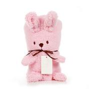 Funkit Baby Swaddle Wrap Fleece Bunny Blanket Stuffed Animal, Soft Rabbit Knee Blankets