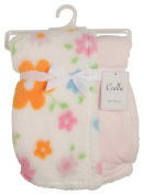 Cudlie! Double Sided Infant Blanket Printed Sherpa and Flannel Fleece Backing, Butterflies Print