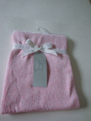 Peacock Alley Pink/White Knitted 100% Cotton Baby Blanket