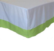 Carters Crib Dust Ruffle Country Green Baby Nursery Bedding Decor