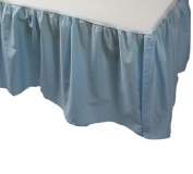 Percale Ruffle Crib Skirt Blue 100% Cotton Size Crib Baby Bedding Decor