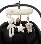 Top McKinley Baby Cute Music Plush Activity Crib Stroller Soft Toys Hanging Rabbit Star Shape