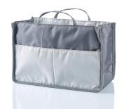 Nappy Bag Insert Organiser for . Moms Tote Purse Handbag, 11 Pockets, Grey