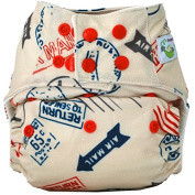 Sweet Pea Bamboo AIO Cloth Nappy, One Size, Stamps