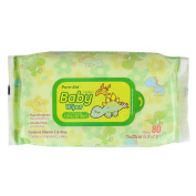 Pure-Aid Unscented Baby Wipes-80ct
