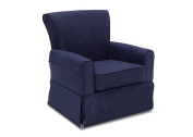 Delta Children Benbridge Nursery Glider Swivel Rocker Chair, Navy