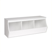 Hawthorne Collections Stackable 3-Bin Storage Cubby in White