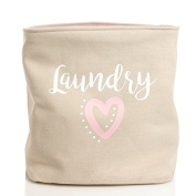 Pink Heart 50cm Laundry Hamper- XXLarge | Nursery Room Storage Bin