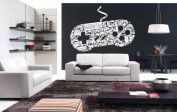 Wall Vinyl Sticker Decals Mural Room Design Pattern Art Decor Video Game Controller X Box bo2030