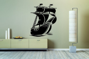 Wall Vinyl Sticker Decals Mural Room Design Pattern Art Ship Boat Sail Ocean Nursery bo2021