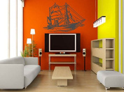Wall Vinyl Sticker Decals Mural Room Design Pattern Art Ship Boat Sea Sail Nursery Water bo2016