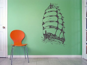 Wall Vinyl Sticker Decals Mural Room Design Pattern Art Ship Boat Sail Sea Ocean Nursery bo2011