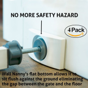 Wall Nanny (4 Pack - Made in USA) Indoor Baby Gate Wall Protector - No More Safety Hazard on Bottom Spindles - New & Improved Small Compact Pad For Trim & Paint - Best Dog & Pet Pressure Gates Guard