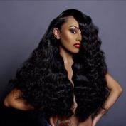 Nadula 6A Grade Gorgeous Brazilian Virgin Body Wave Weave 3 Bundles (100+/-5g)/pc, 20cm - 70cm 100% Unprocessed Remy Virgin Human Hair Extensions Natural Colour