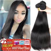 QTHAIR 8A Indian Virgin Hair Straight 3 PCS 60cm 60cm 70cm 100% Unprocessed Indian Straight Virgin Hair Extension Weaves Natural Black